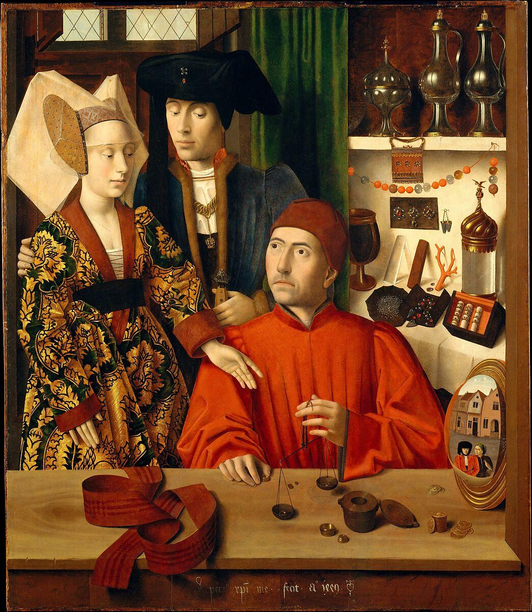 A Goldsmith in his Shop, Petrus Christus (Netherlandish, Baarle-Hertog (Baerle-Duc), active by 1444–died 1475/76 Bruges), Oil on oak panel