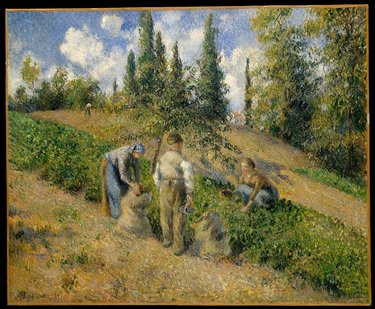 Camille Pissarro   The Harvest, Pontoise (La Récolte, Pontoise)   The Met