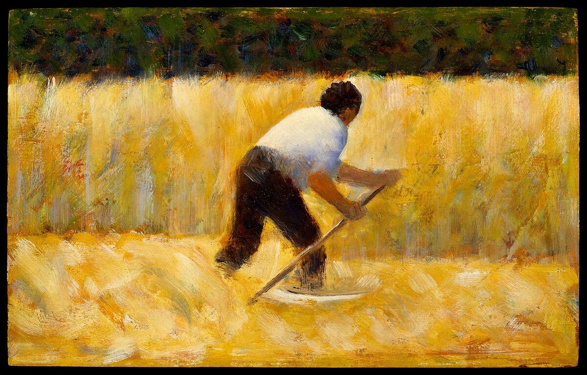 Georges Seurat Painter As Street >> Georges Seurat The Mower The Met