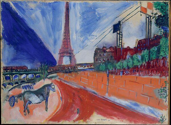 Marc Chagall Le Pont De Passy Et La Tour Eiffel The Met