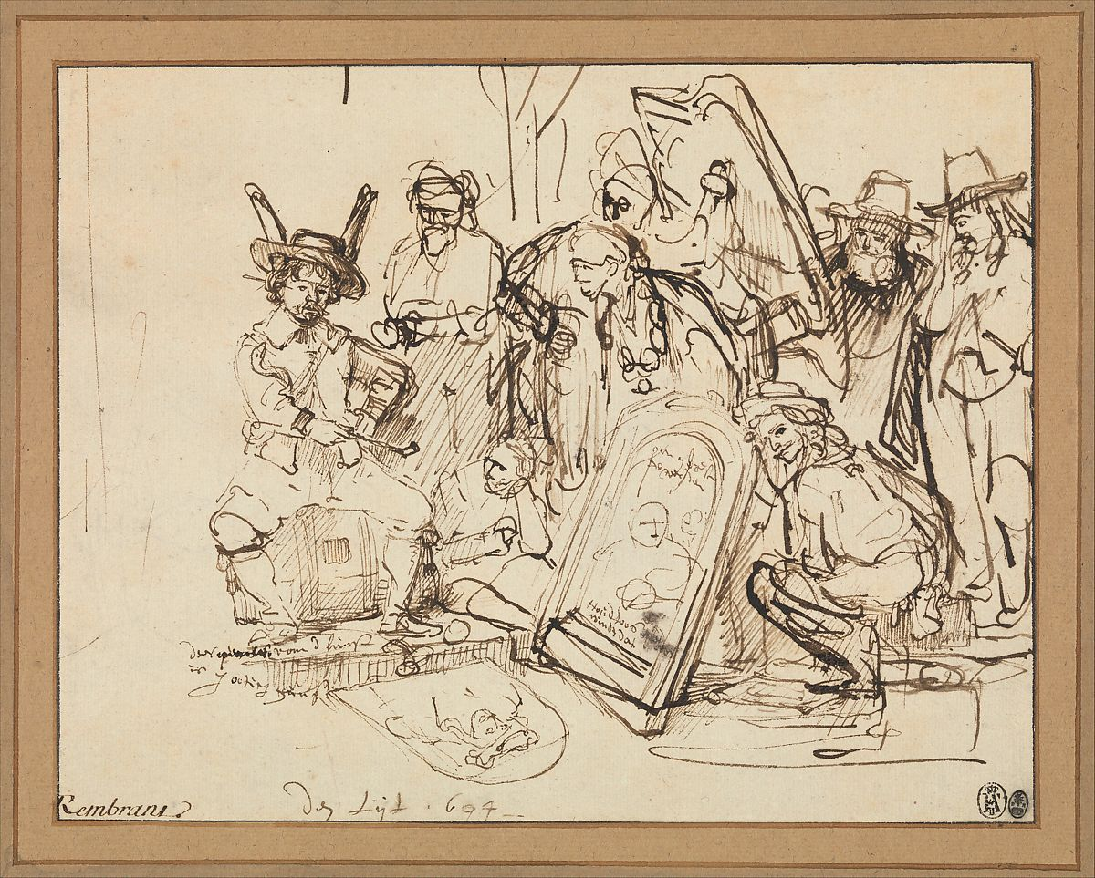 Rembrandt Rembrandt Van Rijn Satire On Art Criticism The Met