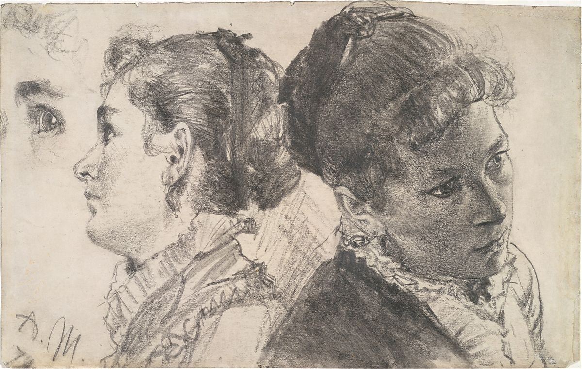 Adolph Menzel Studies Of A Young Woman The Metropolitan Museum Of Art
