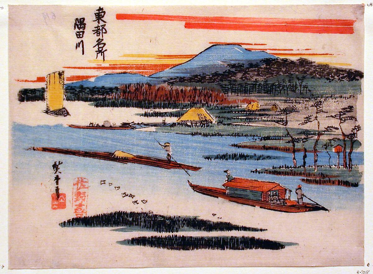 Boat on the Sumida, 1817–58