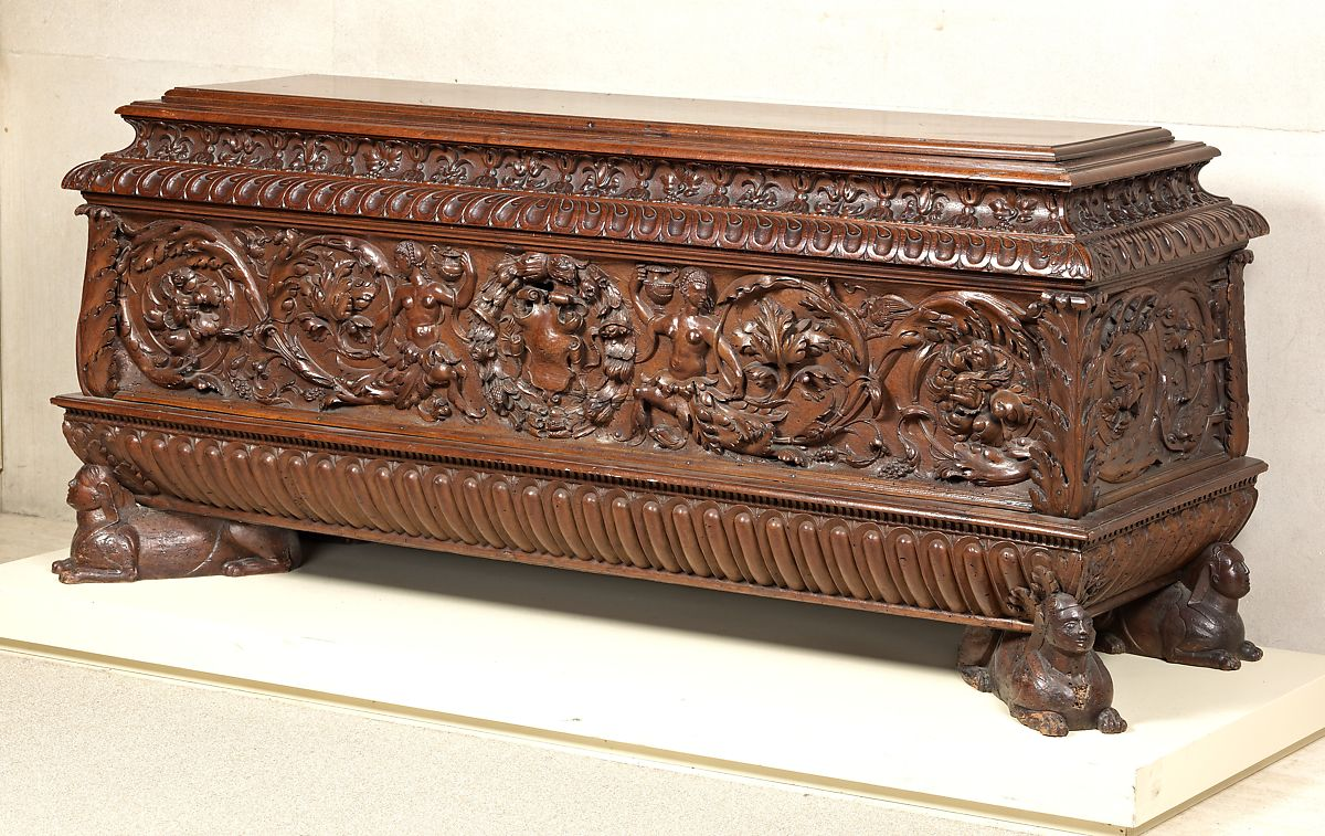 Cassone (chest, pair with 1975.1.1946) | Italian (Tuscany?) | The Met