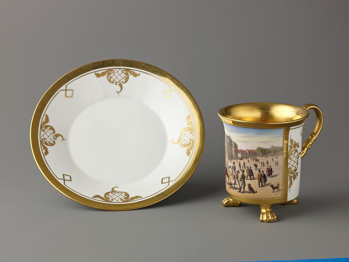 Royal Porcelain Manufactory (Königliche Porzellan-Manufaktur), Berlin | Cup and saucer | German, Berlin | The Met