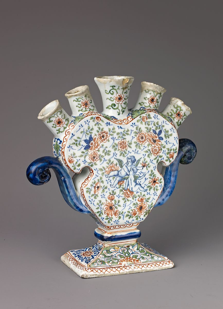 Tulip Vase  Dutch Delft  The Met-3633