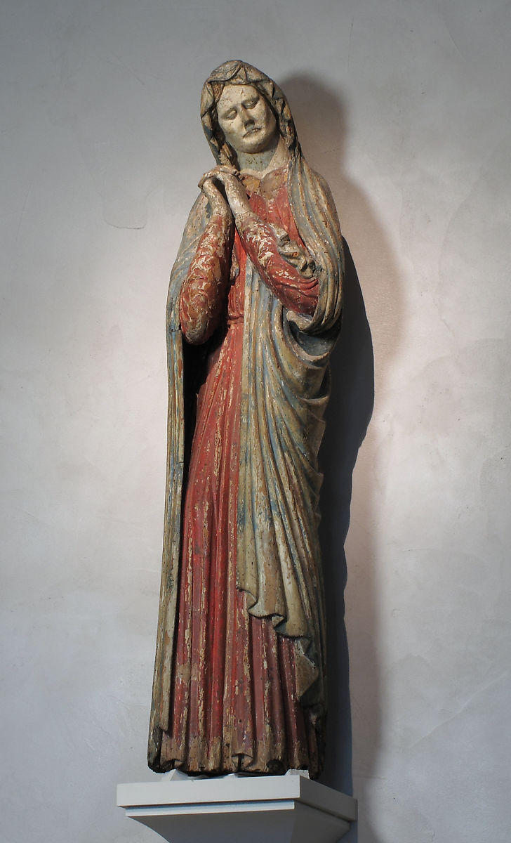Mourning Virgin, Wood and paint, Austrian