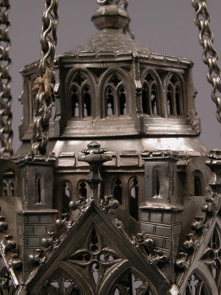 Incensario suizo del siglo XV. Imagen: Metropolitan Museum of Art.