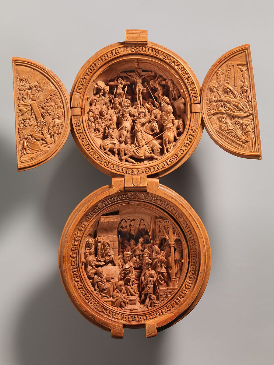 Prayer Bead with the Crucifixion and Jesus before Pilate | Netherlandish | The Met