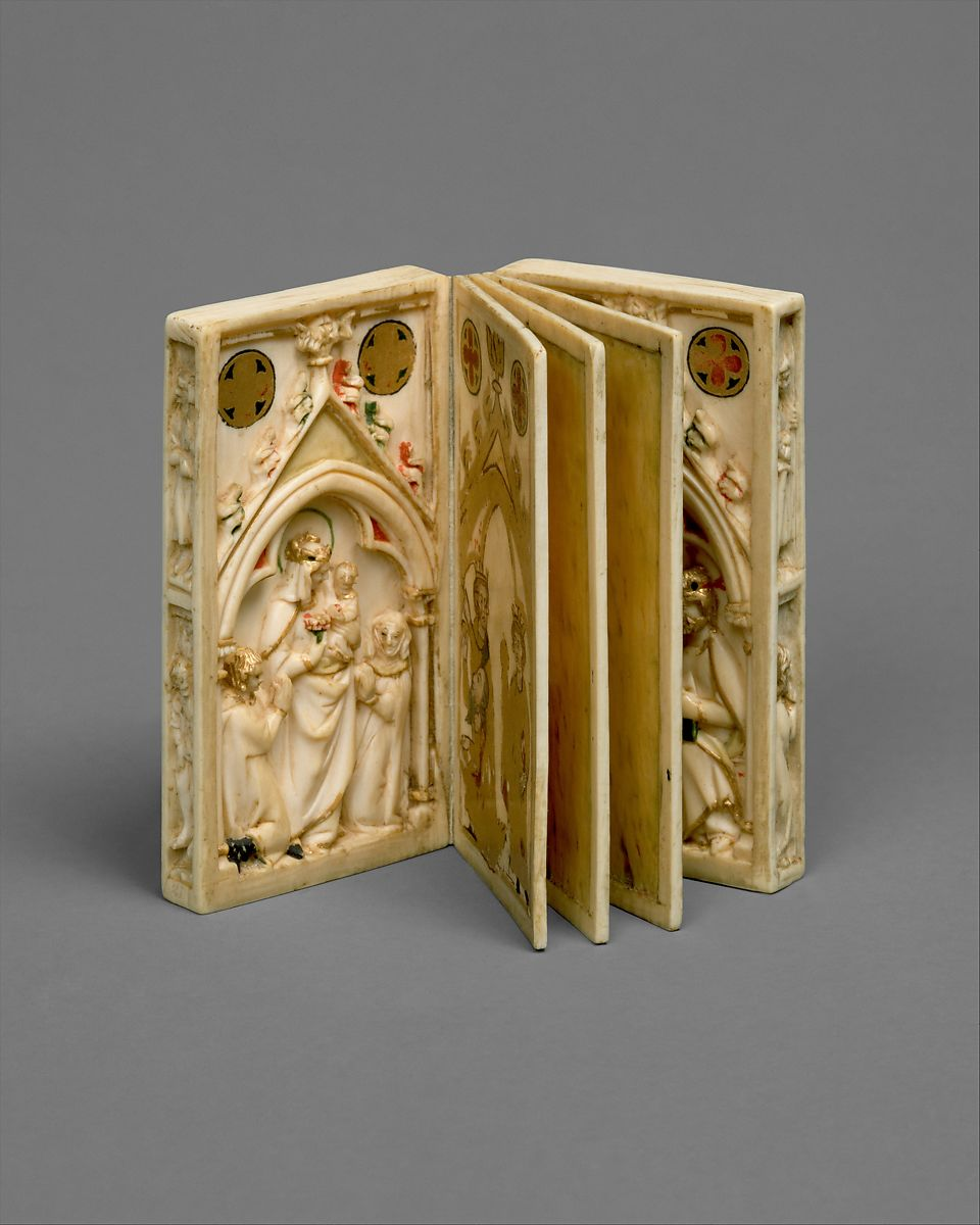 Booklet with Scenes of the Passion | North French (carving); Upper Rhenish (painting) | The Met