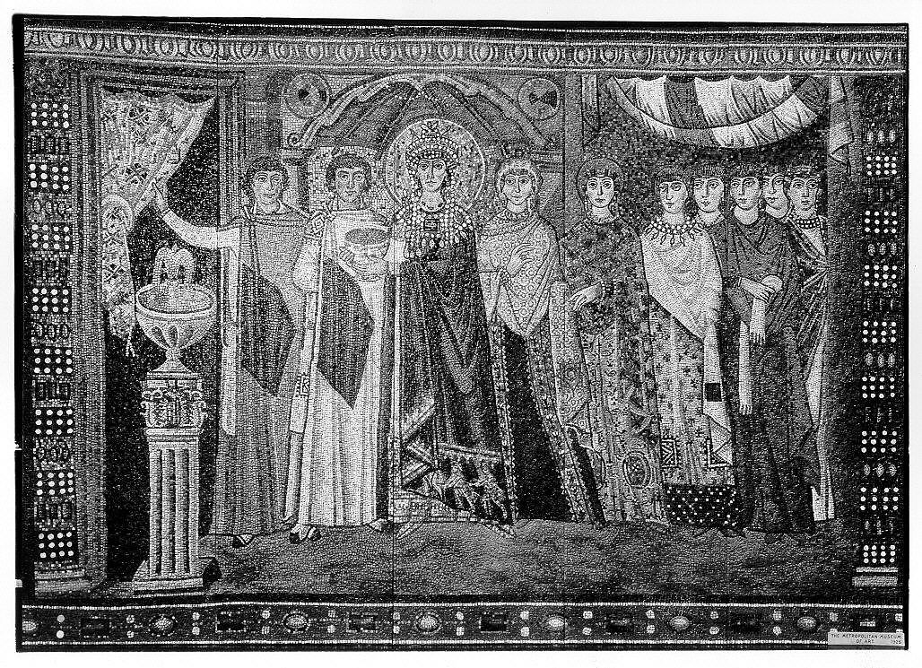 Empress Theodora and Members of Her Court   Byzantine   The Met