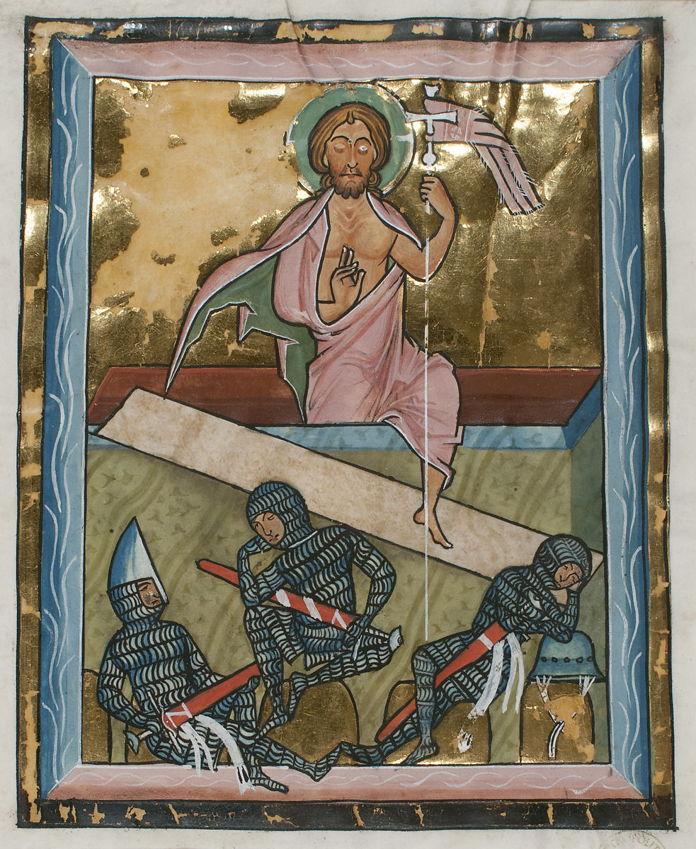 Manuscript Leaf with the Resurrection, from a Psalter | German | The Met