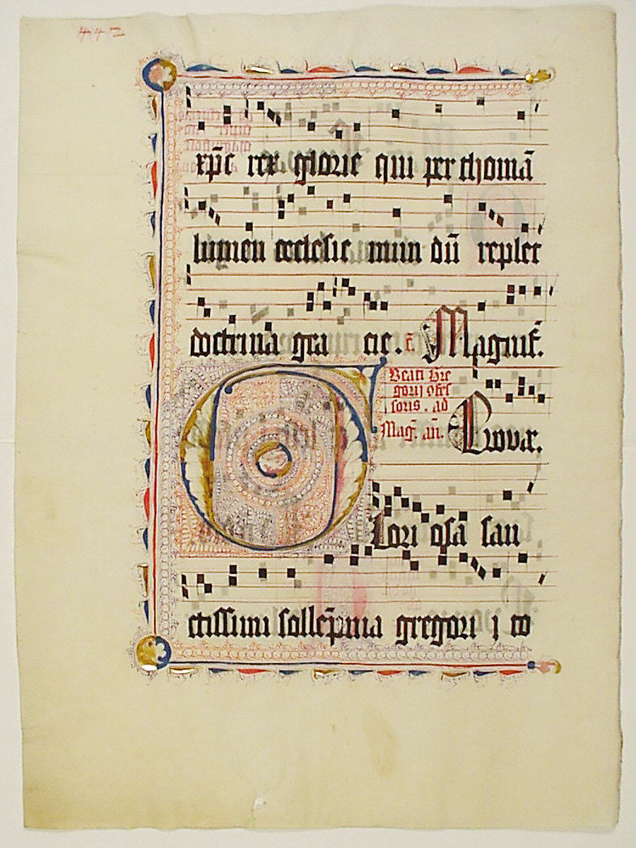 Manuscript Leaf with Initial F, from an Antiphonary | German | The Met