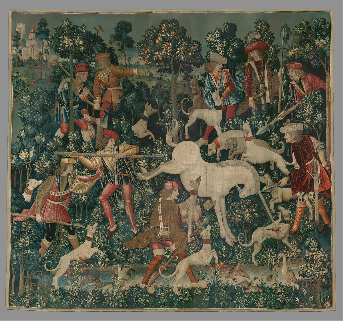 The Unicorn Defends Himself From The Unicorn Tapestries French Cartoon South Netherlandish Woven The Metropolitan Museum Of Art