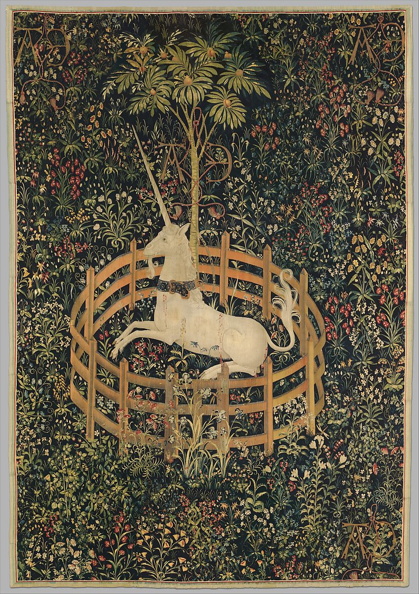 The Unicorn Rests in a Garden (from the Unicorn Tapestries) | French (cartoon)/South Netherlandish (woven) | The Met