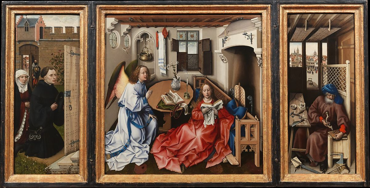 Workshop of Robert Campin | Annunciation Triptych (Merode