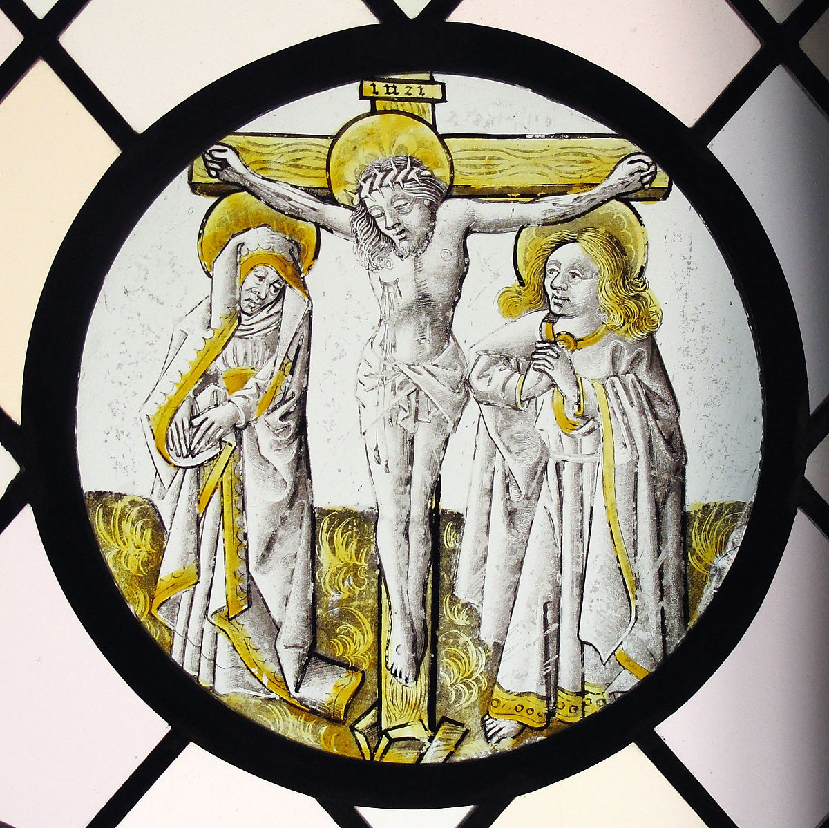 Roundel with Crucifixion, the Virgin and Saint John | British (?) | The Met