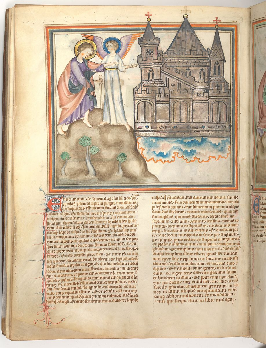 John Led to the New Jerusalem (f. 36 v.)