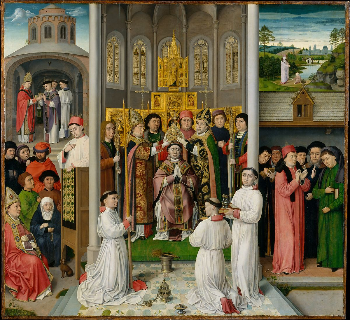 Scenes from the Life of Saint Augustine of Hippo,ca. 1490 by Master of Saint Augustine