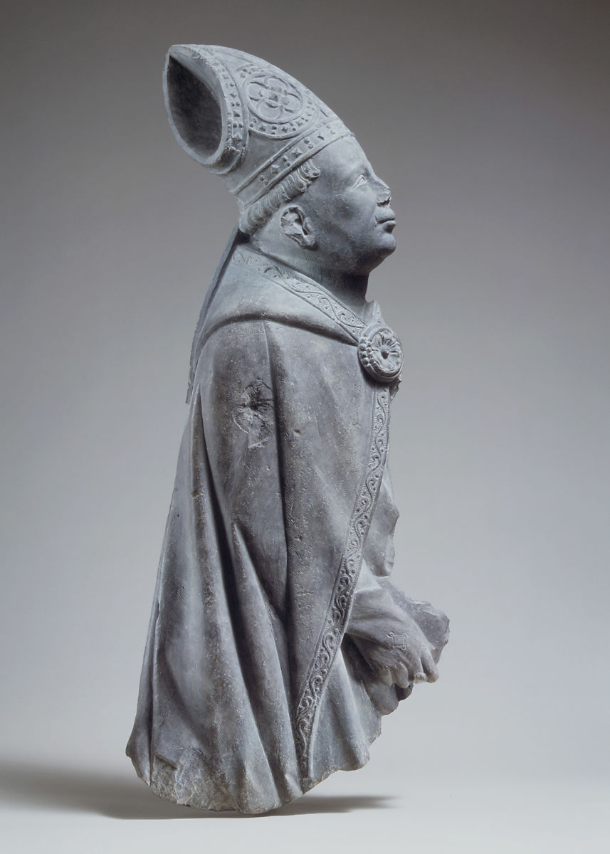 Relief of a Bishop, Limestone, South Netherlandish