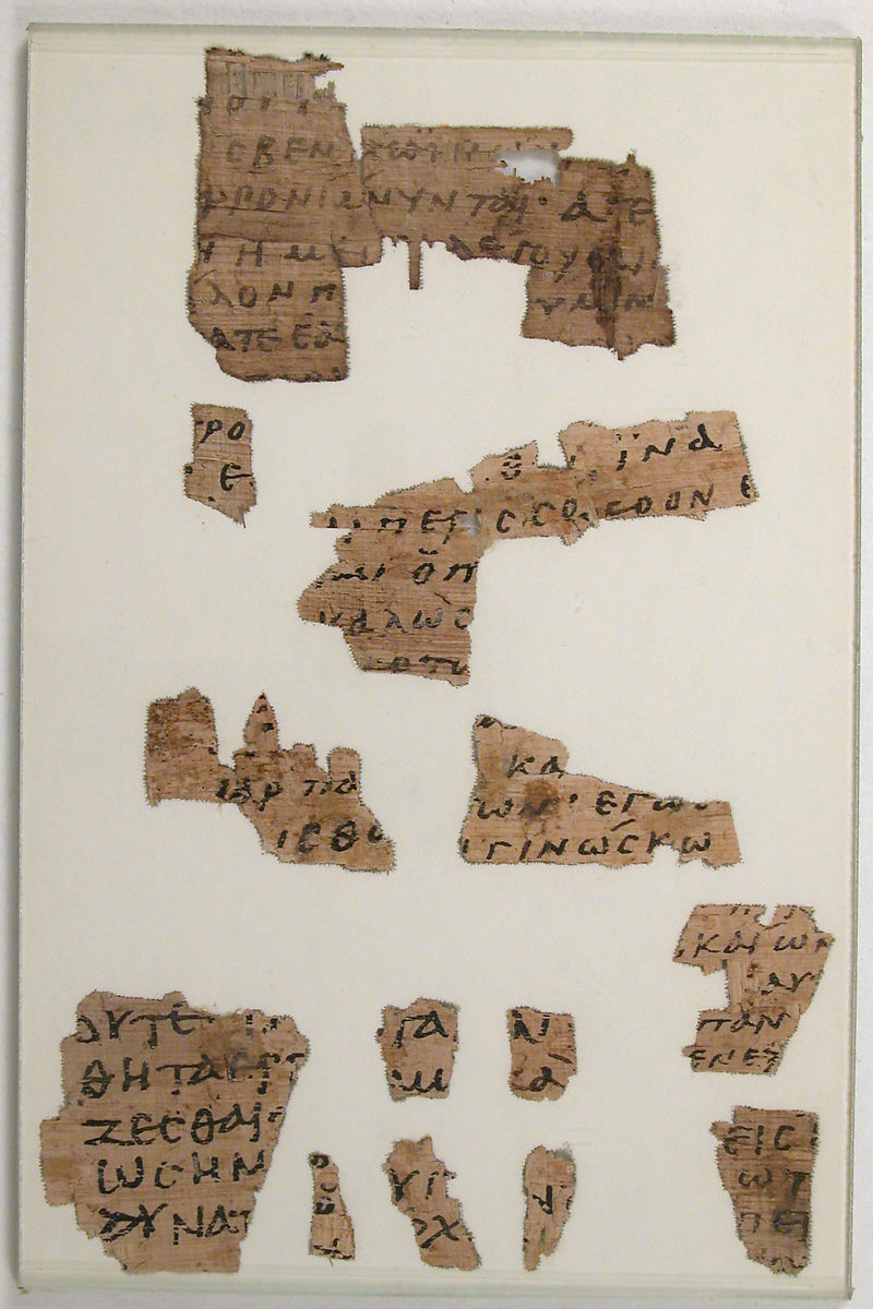 Papyrus Fragments from a Lectionary, Papyrus with ink, Coptic