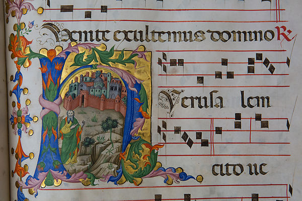 Posters Met Letter : Illuminated by andrea di bartolo the prophet isaiah in a letter