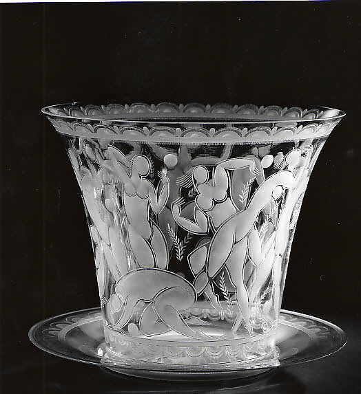 Edward Hald Girls Playing Ball Vase With Tray The Met