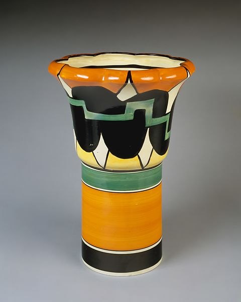 Clarice Cliff Vase The Met