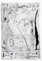 Untitled, Susan Barron (American, born Lake Forest, Illinois, 1947), Cut, torn and pasted printed and unprinted papers, gouache, charcoal graphite, and silkscreen pigment on paper, mounted on paper