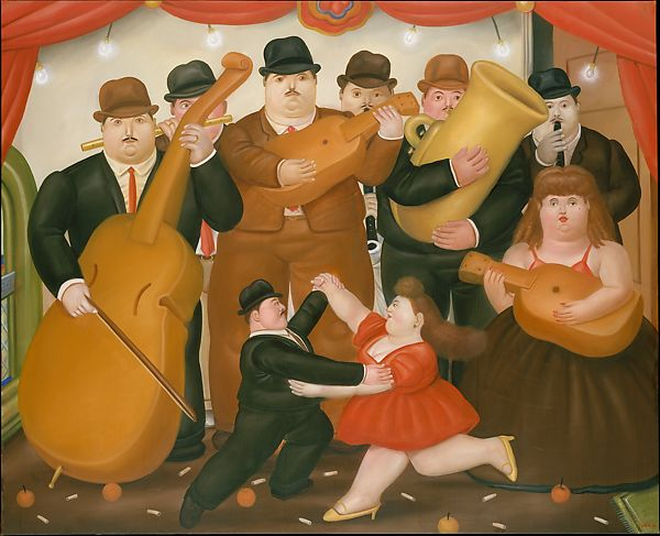 fernando botero dancing in colombia the met