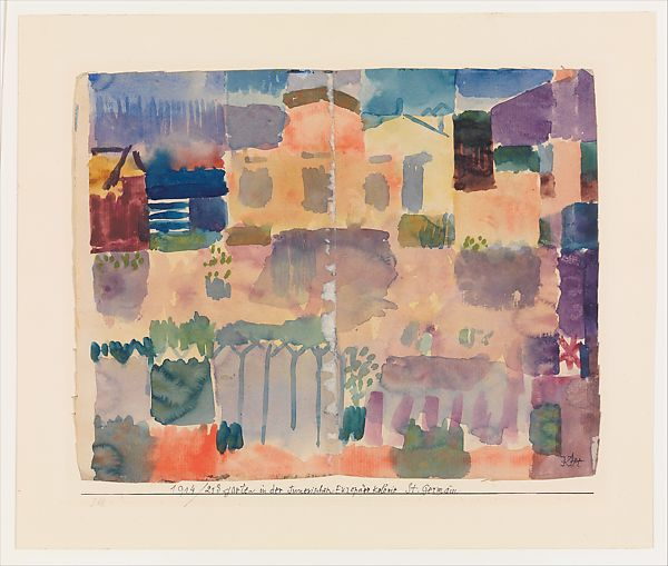 Paul Klee | Garden in St. Germain, The European Quarter Near Tunis | The  Metropolitan Museum of Art