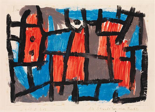 Landscape with black columns Paul Klee Grösse 50x40 Kunstdruck Artprint