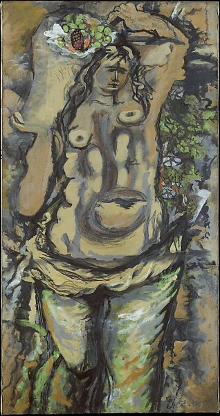 Georges Braque  Woman Carrying A Basket Of Fruit  The Met-2838