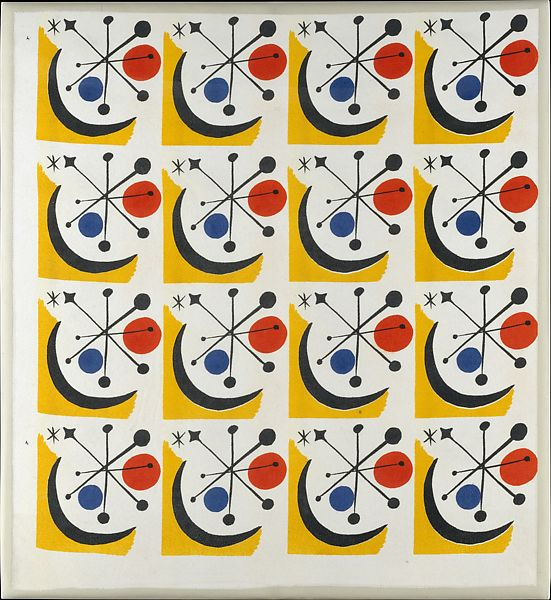 "Alexander Calder   ""Calder #1"" Textile (Model No. 1-145)   The Met"