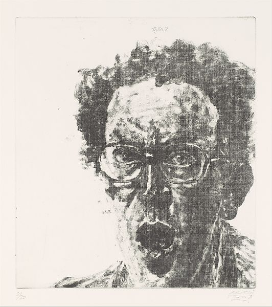 Avigdor Arikha | Self-Portrait with Open Mouth | The Metropolitan Museum of  Art