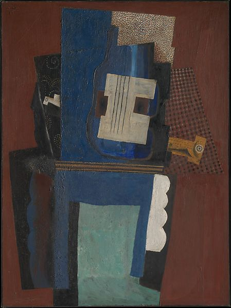Pablo Picasso  Guitar And Clarinet On A Mantelpiece  The Met-6675