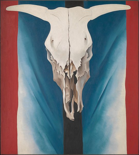 Georgia O Keeffe Cow S Skull Red White And Blue The Met