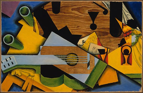Still Life with a Guitar, Juan Gris (Spanish, Madrid 1887–1927 Boulogne-sur-Seine), Oil on canvas
