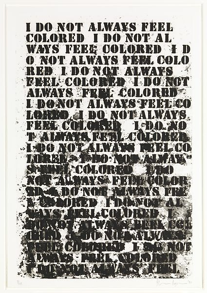 Glenn Ligon Untitled Four Etchings The Met