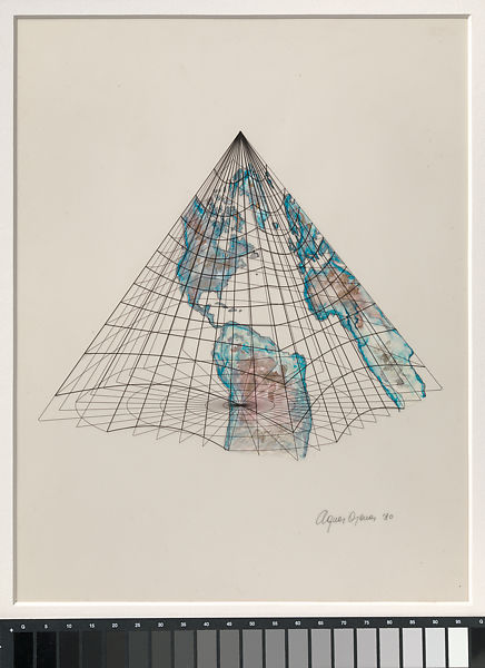 Pyramids In America Map.Agnes Denes Isometric Systems In Isotropic Space Map Projections