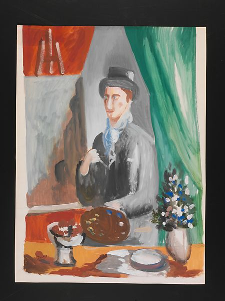 The Artist in his Studio, André Derain (French, Chatou 1880–1954 Garches), Gouache on paper