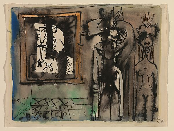 "Wifredo Lam | Study for ""The Secret"" 