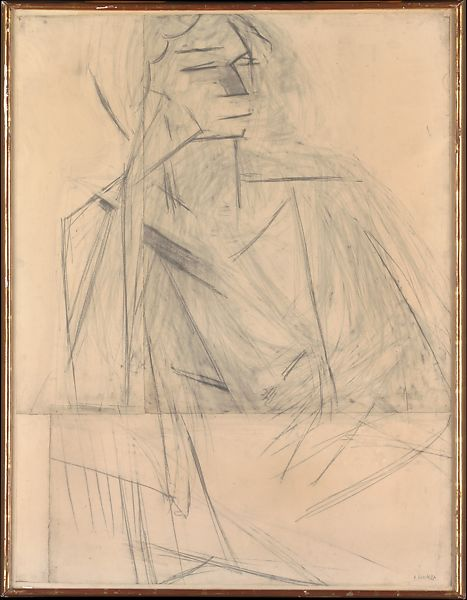 Eva Mudocci, Henri Matisse (French, Le Cateau-Cambrésis 1869–1954 Nice), Pencil on jointed paper mounted on canvas
