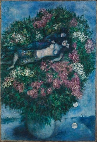 Marc Chagall Lovers Among Lilacs The Met