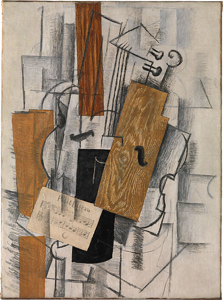 georges braque violin and sheet music petit oiseau the met