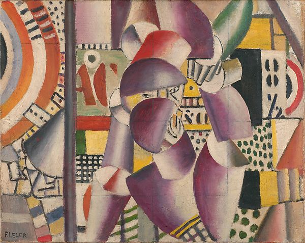 """Sketch for """"The Acrobats in the Circus"""", Fernand Léger (French, Argentan 1881–1955 Gif-sur-Yvette), Oil on canvas"""