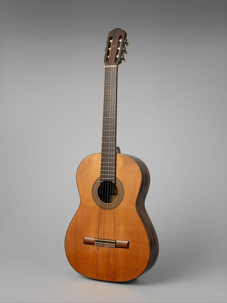 Guitar, Workshop of Manuel Ramírez (Spanish, Alhama de Aragon, 1864–1916), Spruce, rosewood, cedar, ebony, ivory or bone, Spanish