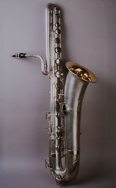 Elkhart Band Instrument Co  | Bass saxophone in B-flat