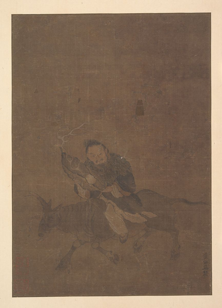 Attributed to Tong Rênyi   Daoist Riding Horned Animal   China   Song dynasty (?) (960–1279)   The Met
