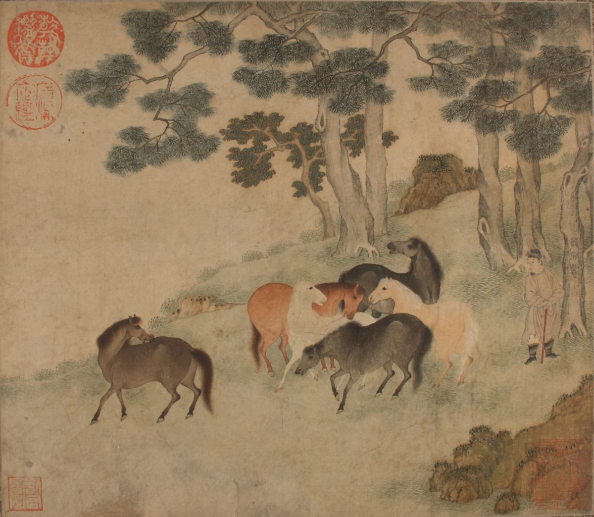 Unidentified Artist   Horses in Landscape with Attendant   China   Yuan dynasty (1271–1368)   The Met